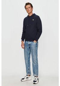 Niebieska bluza nierozpinana Lacoste na co dzień, casualowa, z kapturem
