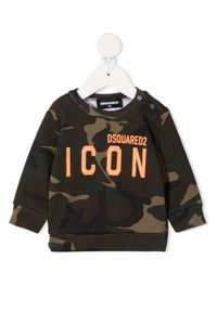 DSQUARED2 KIDS - Bawełniana bluza moro 0-3 lata. Kolor: brązowy. Materiał: bawełna. Wzór: moro. Sezon: lato