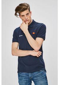 Niebieska koszulka polo Ellesse na co dzień, polo, z aplikacjami, casualowa