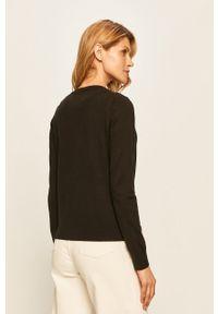Czarny sweter rozpinany TOMMY HILFIGER casualowy, na co dzień