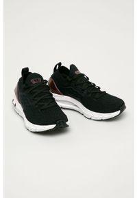 Czarne buty sportowe Under Armour na niskim obcasie, z cholewką