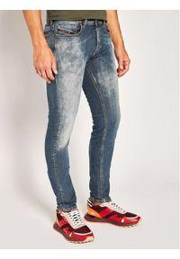 Diesel Jeansy Sleenker 00SWJF 069LI Niebieski Skinny Fit. Kolor: niebieski. Materiał: jeans