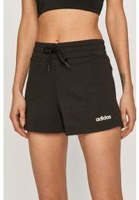 Adidas - adidas - Szorty. Okazja: na co dzień. Kolor: czarny. Materiał: dzianina, poliester. Wzór: gładki. Styl: casual