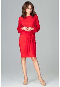 Czerwona sukienka wizytowa Katrus wizytowa