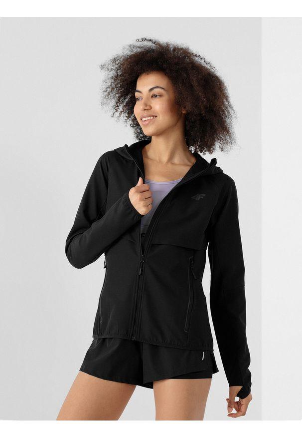 4f - Softshell do biegania damski. Kolor: czarny. Materiał: softshell