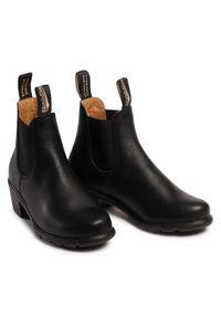 Czarne botki Blundstone na obcasie, z cholewką, na średnim obcasie #6