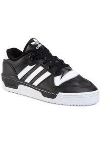 Adidas - Buty adidas - Rivalry Low EG8063 Cblack/Ftwwht/Ftwwht. Okazja: na co dzień. Kolor: czarny. Materiał: skóra ekologiczna, skóra. Szerokość cholewki: normalna. Styl: elegancki, sportowy, casual