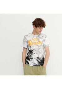 House - T-shirt z nadrukiem See You On The Beach - Jasny szary. Kolor: szary. Wzór: nadruk