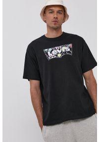 Levi's® - Levi's - T-shirt. Okazja: na co dzień, na spotkanie biznesowe. Kolor: czarny. Wzór: nadruk. Styl: biznesowy, casual
