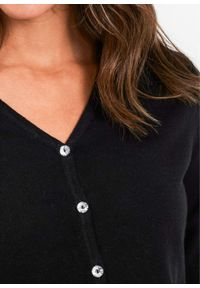 Czarny sweter bonprix długi, elegancki