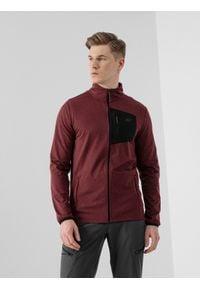 4f - Bluza funkcyjna męska. Kolor: czerwony. Materiał: włókno, dzianina