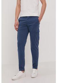 Baldessarini - Spodnie Jost. Kolor: niebieski. Materiał: tkanina. Wzór: gładki