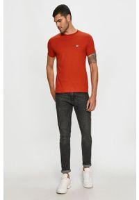 Czerwony t-shirt Tommy Hilfiger Tailored casualowy, na co dzień, z aplikacjami