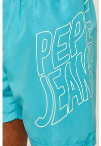Morskie kąpielówki Pepe Jeans z nadrukiem