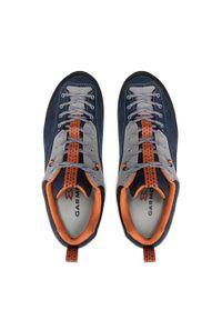 Garmont - Trekkingi GARMONT - Dragontail Mnt Gtx GORE-TEX 002471 Dark Blue/Orange. Kolor: niebieski, szary, wielokolorowy. Materiał: zamsz, skóra, materiał. Szerokość cholewki: normalna. Technologia: Gore-Tex. Sport: turystyka piesza