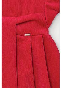 Czerwona sukienka Mayoral mini, z krótkim rękawem, rozkloszowana