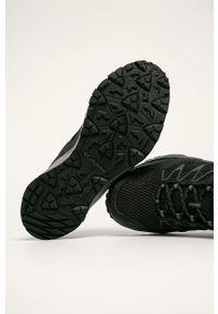 Czarne buty trekkingowe columbia na sznurówki, z cholewką