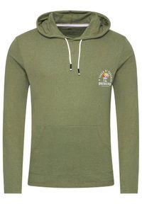 Quiksilver Longsleeve Beal Hoody EQYKT04122 Zielony Regular Fit. Kolor: zielony. Długość rękawa: długi rękaw