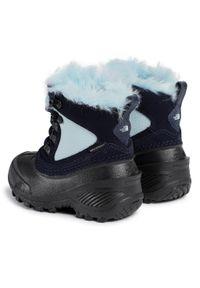 Niebieskie śniegowce The North Face na spacer, z cholewką