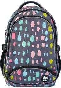 Incood Plecak trzykomorowy Plamki szary pastelowe. Kolor: szary
