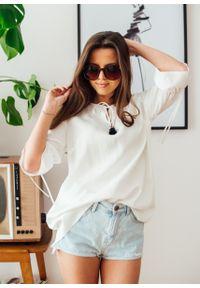Bluzka Fanaberia.com w kolorowe wzory, na co dzień