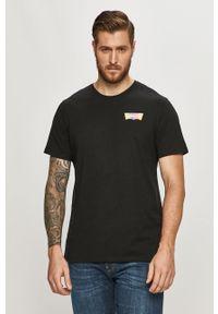 Czarny t-shirt Levi's® biznesowy, na spotkanie biznesowe