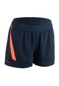 OFFLOAD - Spodenki do rugby R500 damskie. Kolor: pomarańczowy, niebieski, różowy, wielokolorowy. Materiał: poliester, materiał, elastan. Sport: fitness