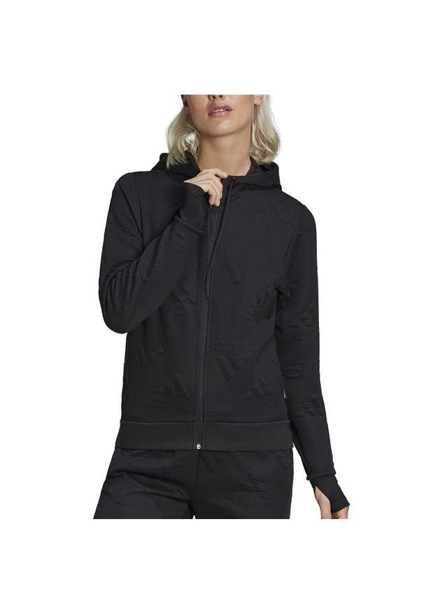 Czarna bluza Adidas z kapturem, klasyczna