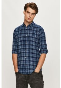 Niebieska koszula Only & Sons z długim rękawem, z klasycznym kołnierzykiem