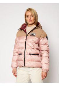 Różowa kurtka zimowa Napapijri