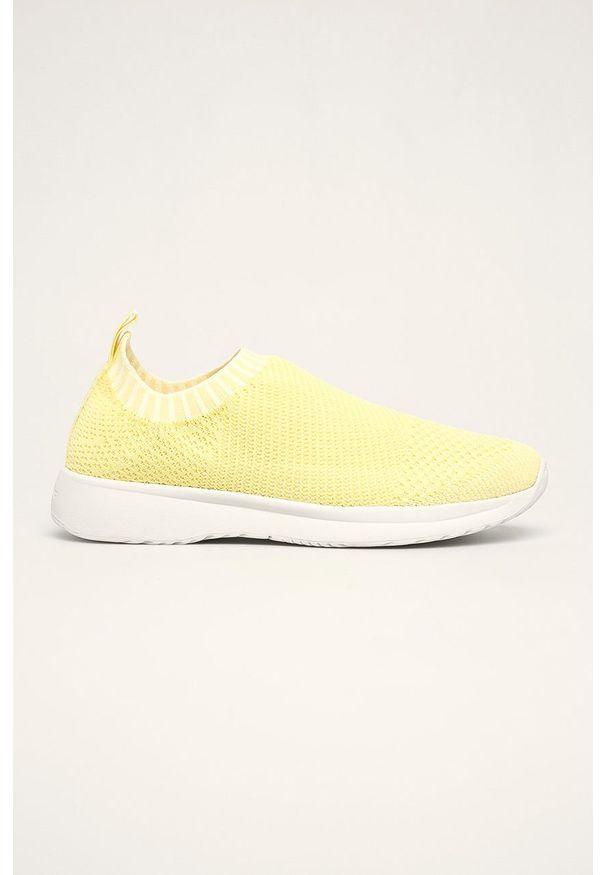 Żółte buty sportowe vagabond z cholewką