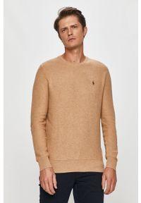 Beżowy sweter Polo Ralph Lauren polo, na co dzień, casualowy