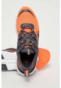 Szare sneakersy EA7 Emporio Armani na sznurówki, z cholewką