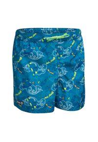 OLAIAN - Spodenki Surfing Bs 100 Clouds Dla Dzieci. Kolor: turkusowy, niebieski, wielokolorowy. Materiał: materiał, poliester. Długość: krótkie