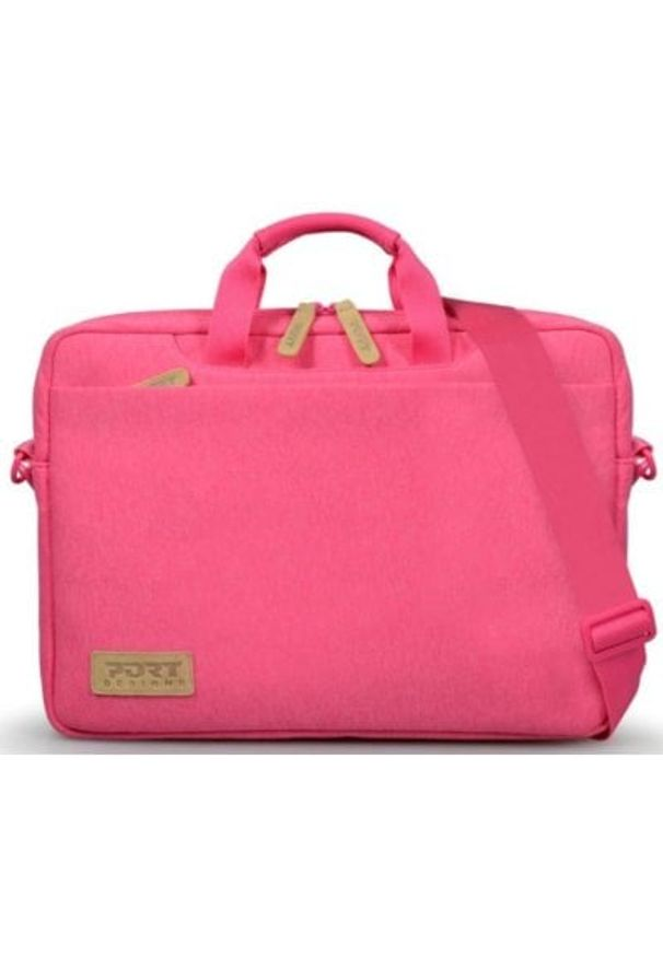 Różowa torba na laptopa PORT DESIGNS elegancka