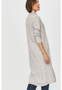 Szary sweter rozpinany Answear Lab długi, melanż