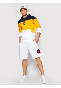 Champion Bluza Ombre Stripe 215946 Żółty Comfort Fit. Kolor: żółty