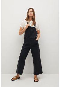 mango - Mango - Kombinezon jeansowy Ares. Okazja: na co dzień. Kolor: szary. Materiał: jeans. Długość rękawa: na ramiączkach. Wzór: gładki. Styl: casual