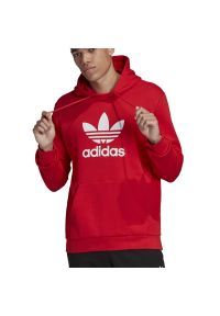 Adidas - ADIDAS TREFOIL HOODIE > FM3783. Typ kołnierza: kaptur. Materiał: materiał, bawełna. Długość rękawa: długi rękaw. Długość: długie. Wzór: aplikacja. Styl: klasyczny