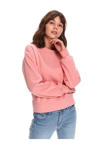 TOP SECRET - Bluza damska nierozpinana. Kolor: różowy. Sezon: wiosna. Styl: sportowy
