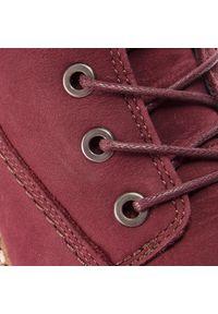 Czerwone buty trekkingowe Camel Active z cholewką