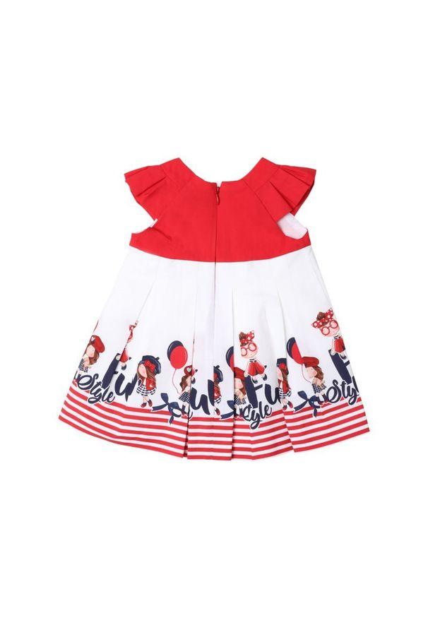 Czerwona sukienka Mayoral prosta, casualowa, na co dzień