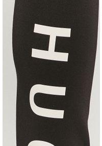 Czarne legginsy Hugo z podwyższonym stanem, z nadrukiem #4