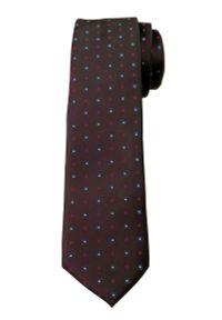Brązowy krawat Angelo di Monti elegancki, w geometryczne wzory