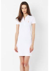Biała sukienka Edward Orlovski z haftami, polo