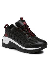 CATerpillar - Sneakersy CATERPILLAR - Intruder CK264126 Black. Okazja: na uczelnię, na spacer. Kolor: czarny. Materiał: skóra, skóra ekologiczna, materiał. Szerokość cholewki: normalna