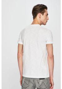 Biały t-shirt Pepe Jeans na co dzień, casualowy, z nadrukiem