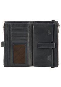 Wittchen - Damski portfel ze skóry z funkcją kopertówki. Materiał: skóra. Wzór: gładki #5