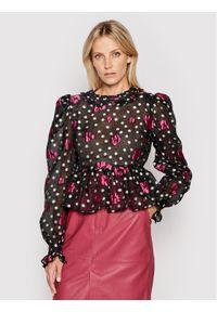 Custommade Bluzka Calma 212395207 Czarny Regular Fit. Kolor: czarny