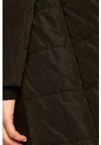 Czarny płaszcz Trussardi Jeans na co dzień, z klasycznym kołnierzykiem
